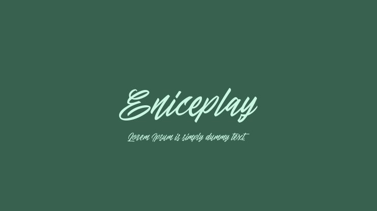 Eniceplay Font Family