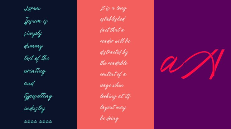 Ribbons in the wind Font