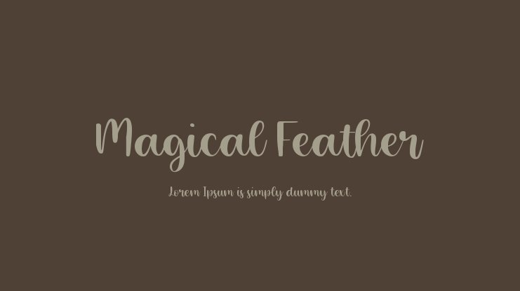 Magical Feather Font