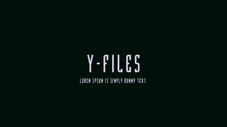 Y-Files Font Family