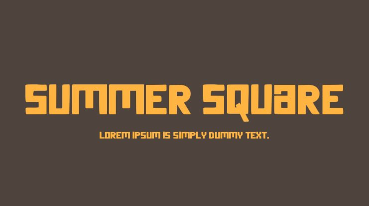 Summer Square Font Family