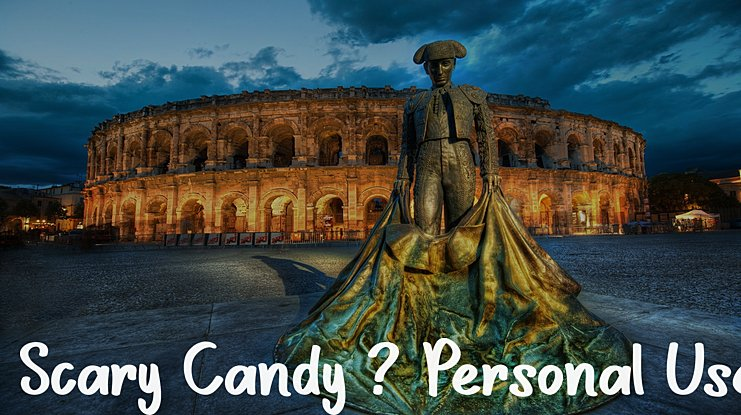 Scary Candy - Personal Use Font
