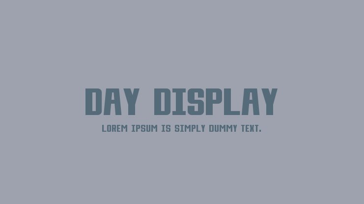Day Display Font Family