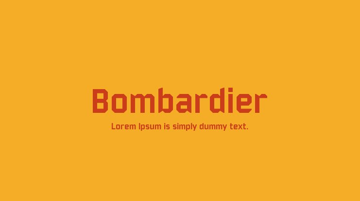 Bombardier Font Family
