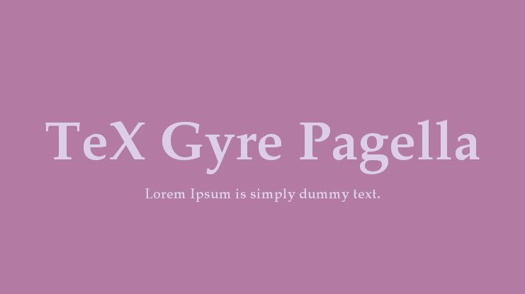TeX Gyre Pagella Font Family