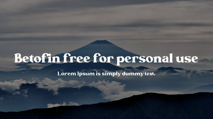 Betofin free for personal use Font