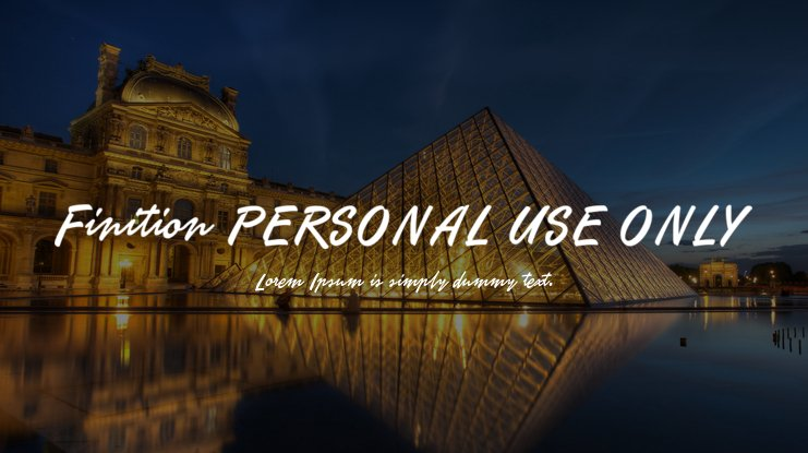 Finition PERSONAL USE ONLY Font