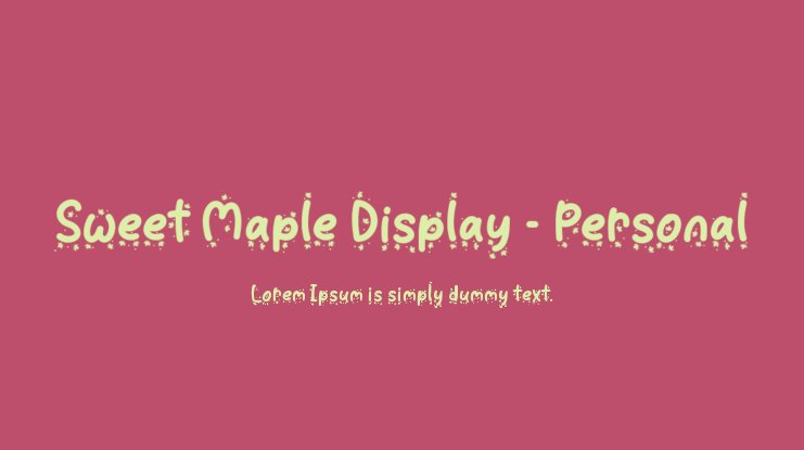 Sweet Maple Display - Personal Font Family