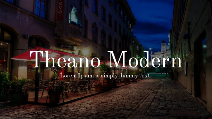 Theano Modern Font
