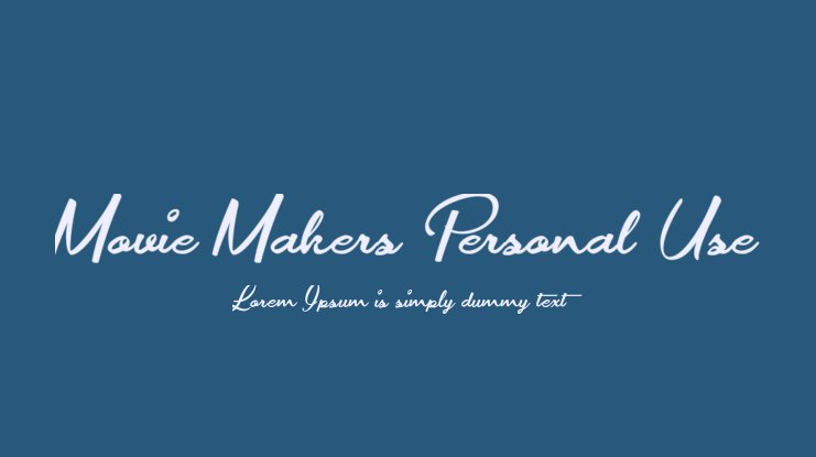Movie Makers Personal Use Font