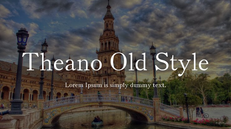 Theano Old Style Font