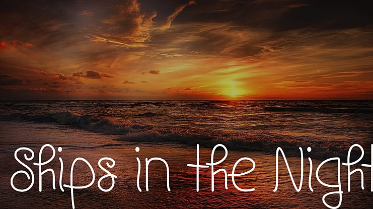 Ships in the Night Font Family