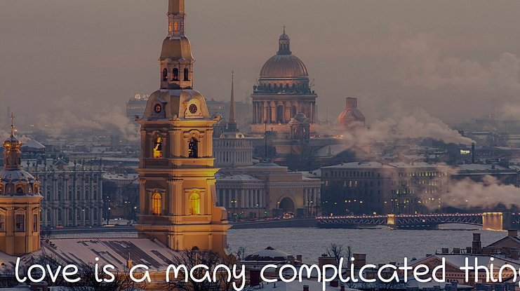 Love Is A Many Complicated Thing Font