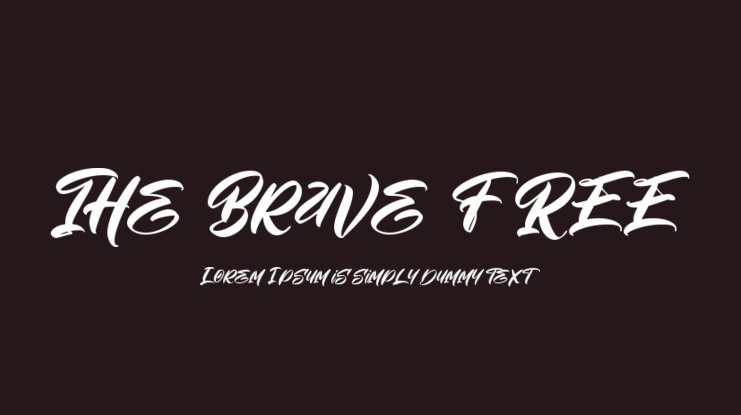 The Brave FREE Font