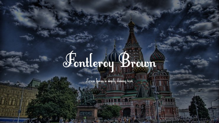 Fontleroy Brown Font