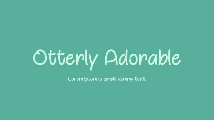 Otterly Adorable Font