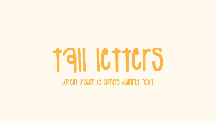 tall letters Font