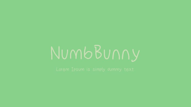 NumbBunny Font Family