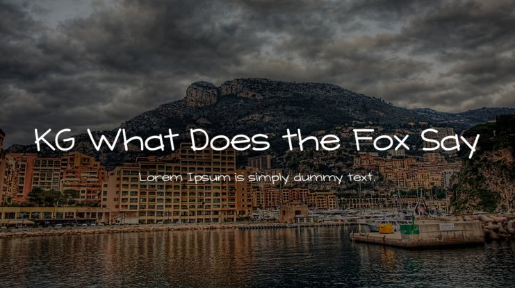KG What Does the Fox Say Font