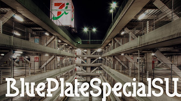 Blue Plate Special SW Font