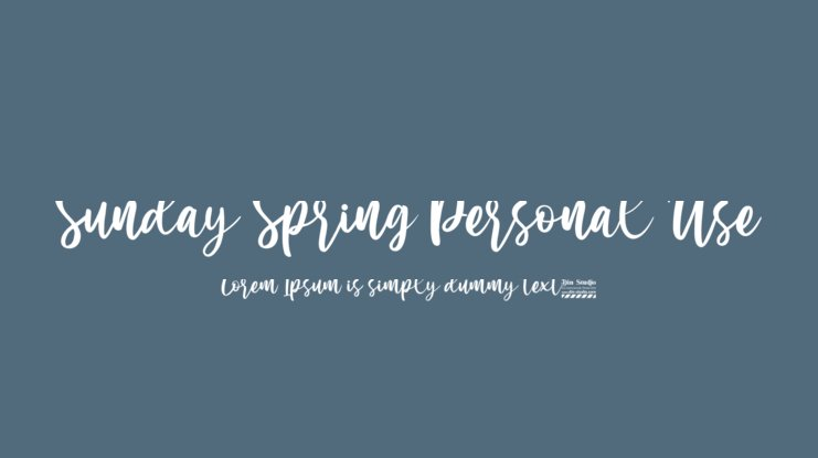 Sunday Spring Personal Use Font