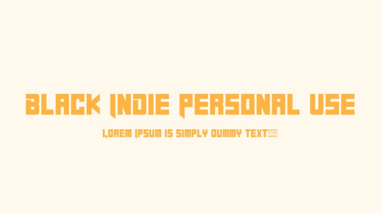 Black Indie Personal Use Font
