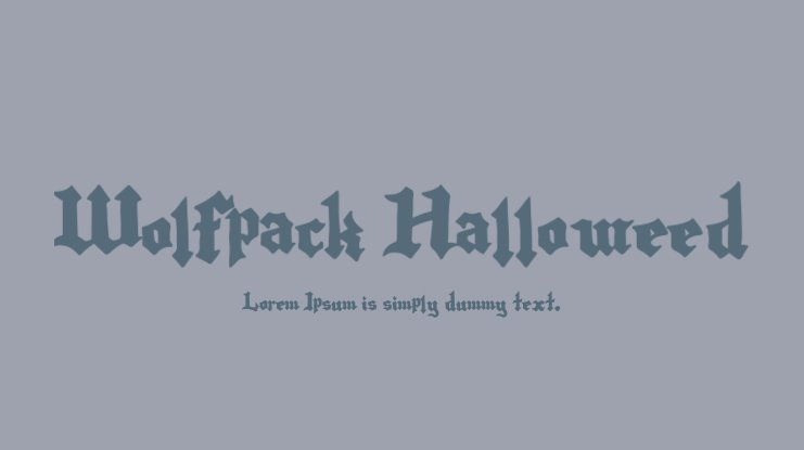 Wolfpack Halloweed Font