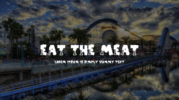 EAT THE MEAT Font Family