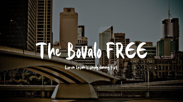 The Bovalo FREE Font