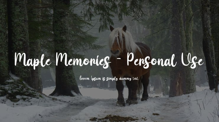 Maple Memories - Personal Use Font