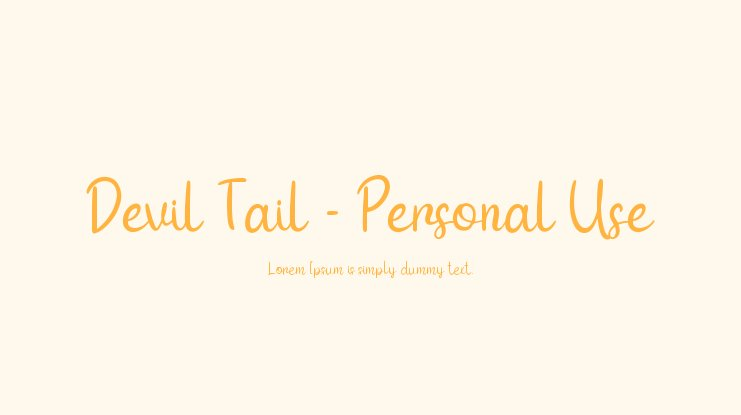 Devil Tail - Personal Use Font