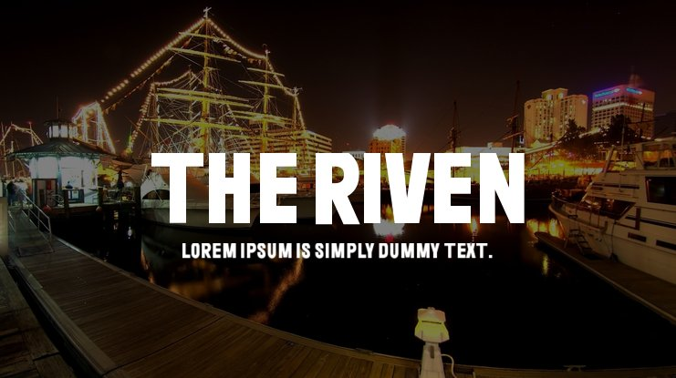 The Riven Font