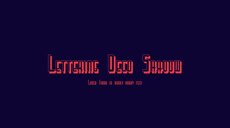 Lettering Deco Shadow font