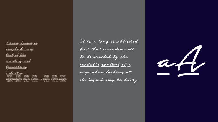 Notera 2 Underline PERSONAL USE Font Family