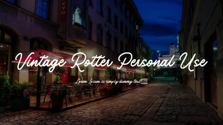 Vintage Rotter Personal Use Font