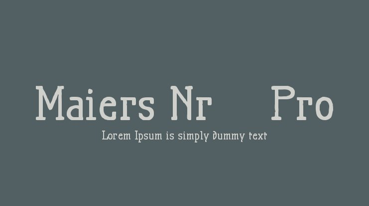 Maiers Nr.21 Pro Font Family