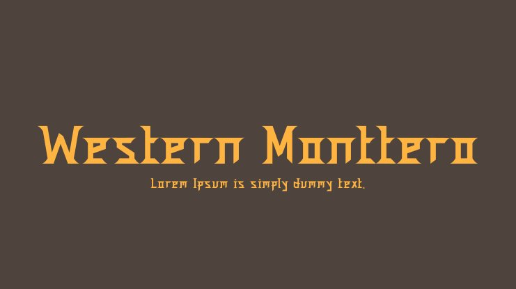Western Monttero Font Family