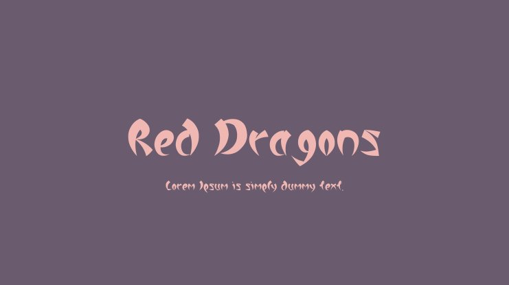 Red Dragons Font Family