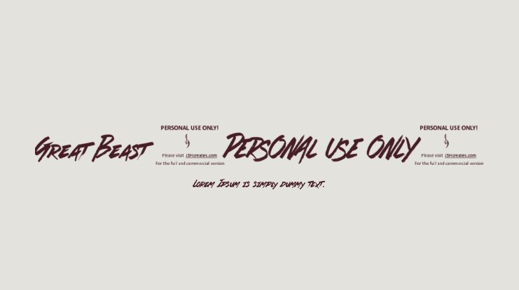 Great Beast (PERSONAL USE ONLY) Font
