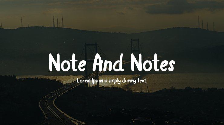 Note And Notes Font
