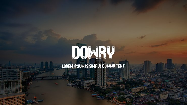 Dowry Font Family