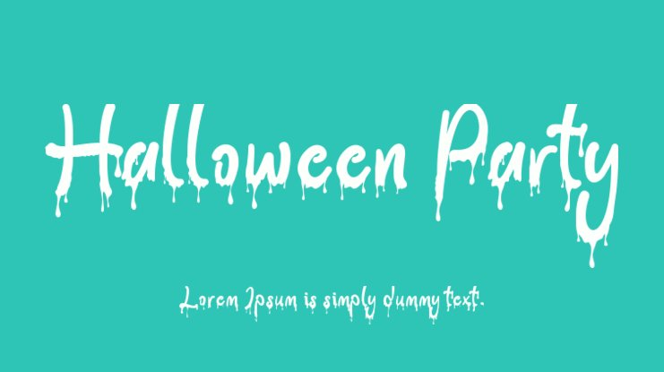 Halloween Party Font