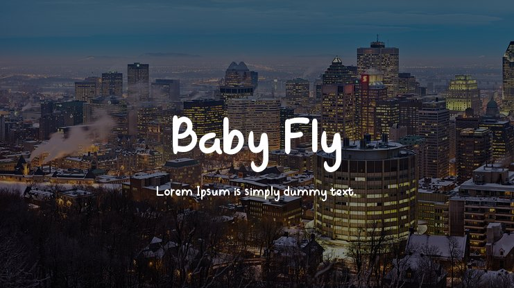 Baby Fly Font