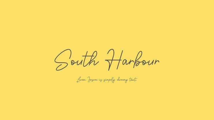 South Harbour Font Family