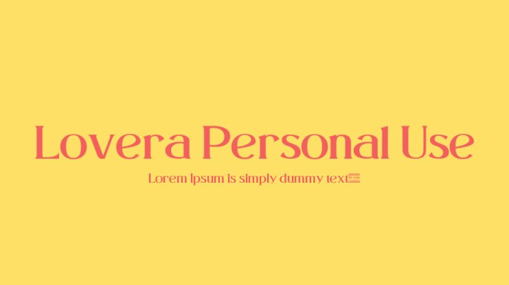 Lovera Personal Use Font
