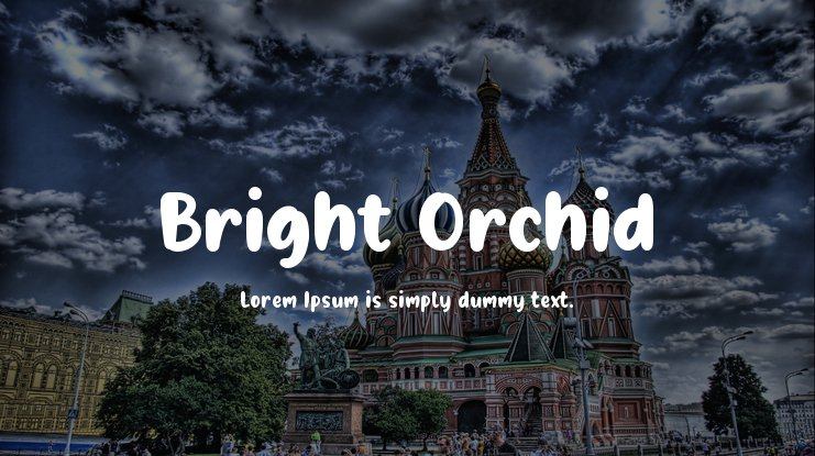 Bright Orchid Font