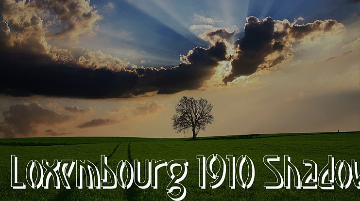 Luxembourg 1910 Font Family