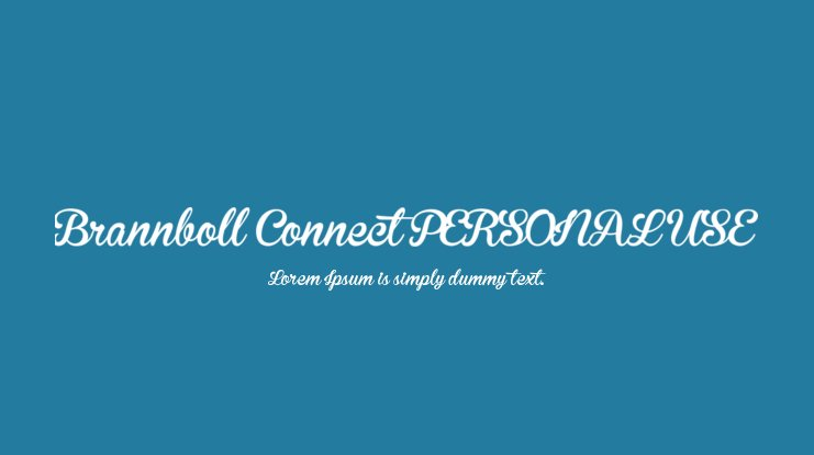 Brannboll Connect PERSONAL USE Font