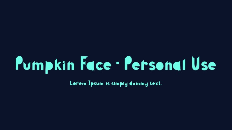 Pumpkin Face - Personal Use Font Family