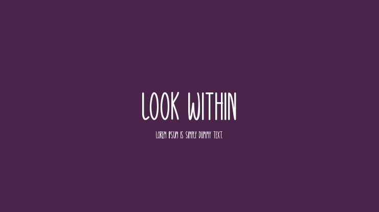 Look Within Font